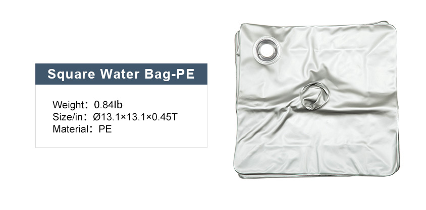 square water bag - advertising flag with logo printed