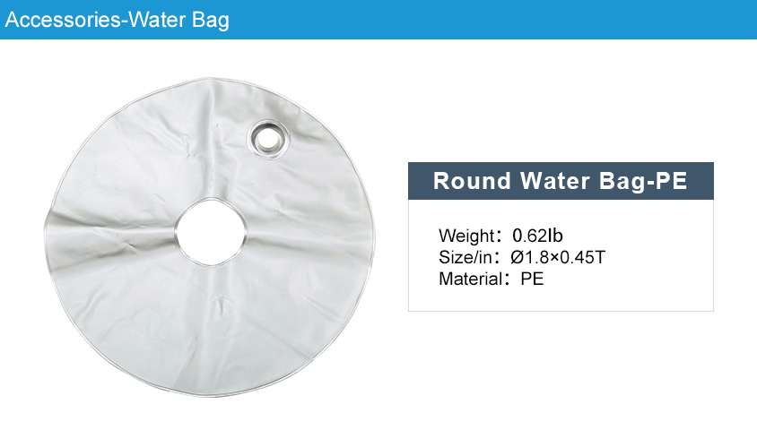 round water bag - custom printed feater flag