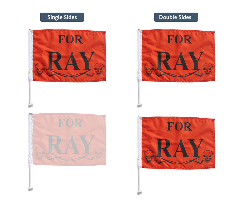 custom printed car flags