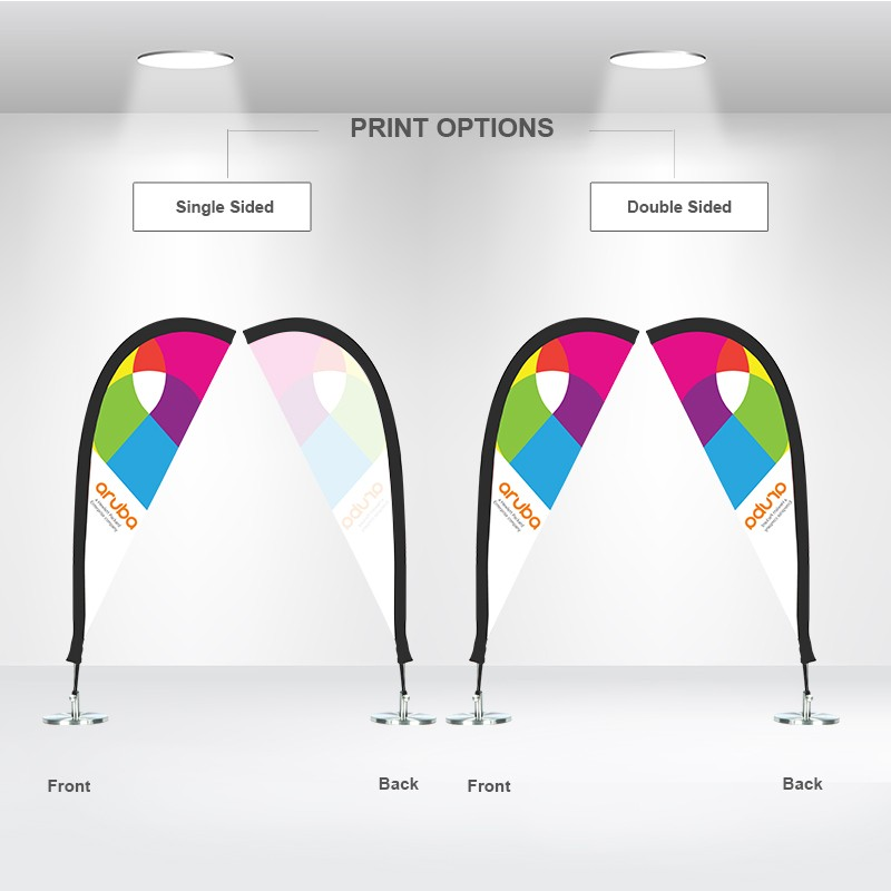 Table Feather Flags