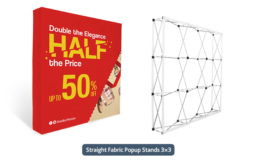 Straight Fabric Popup Displays