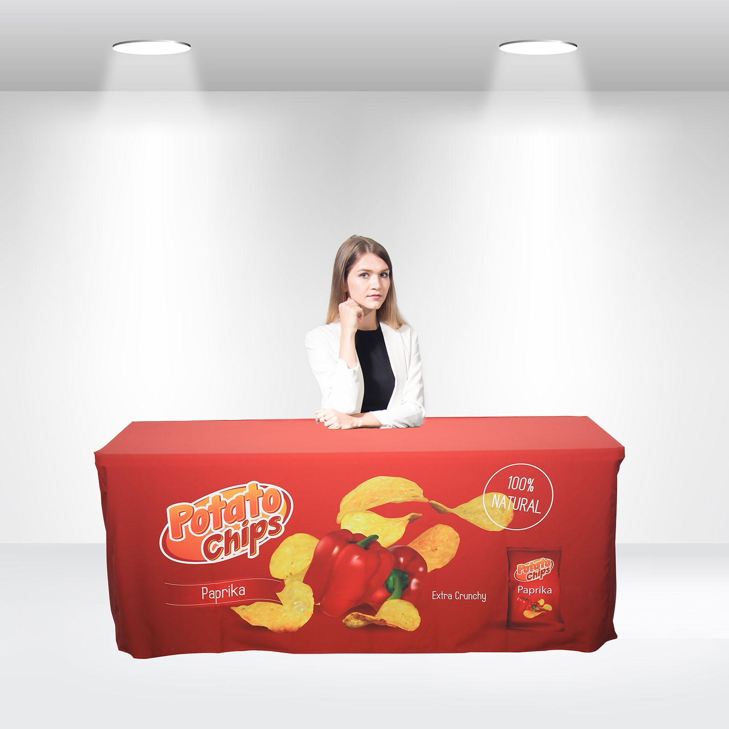 Fitted Table Covers Back with Zipper