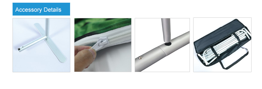 accessories for Curved Tension Fabric Display Bundle