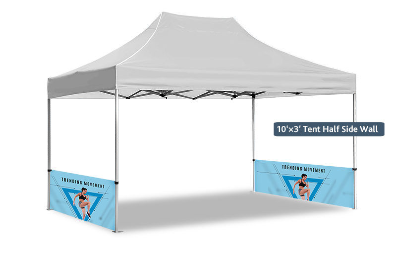 half side wall for promotional gazebos