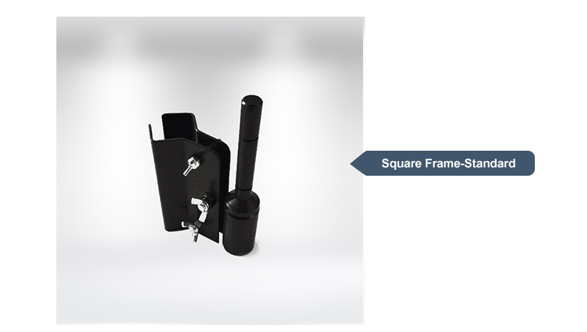 standard square frame for popup tents