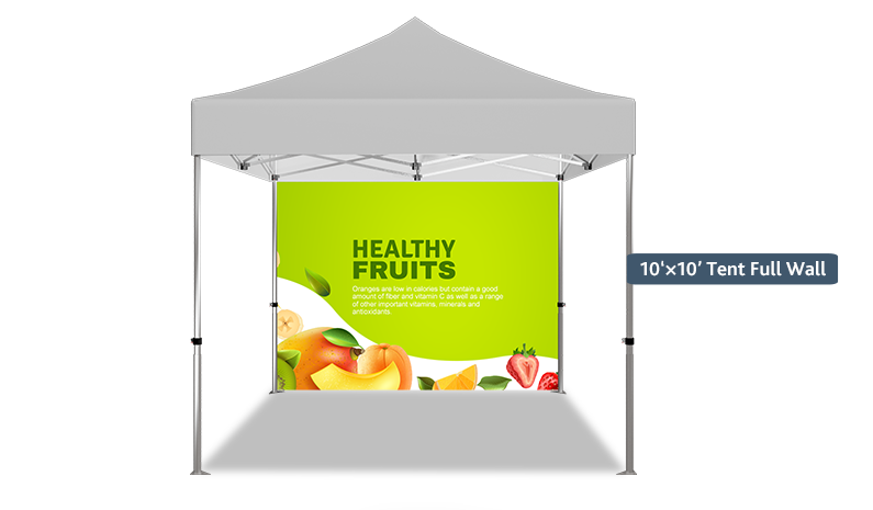 Full wall for advertising tents