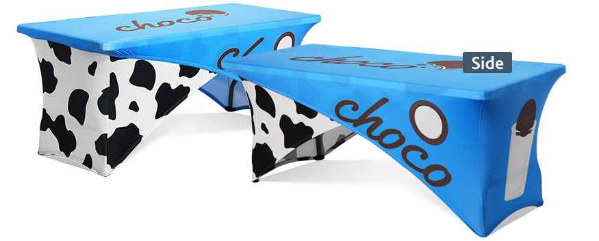 Custom Cross-Over Stretch Table Covers
