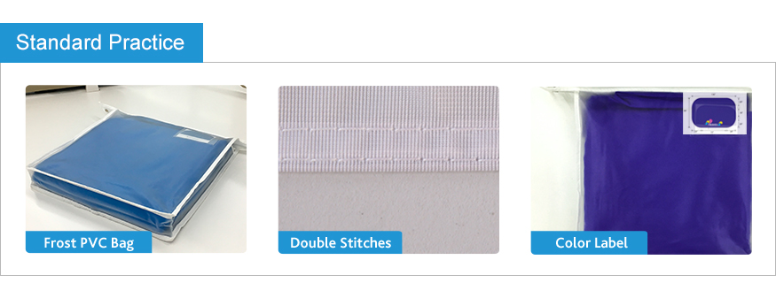 double stitches for long-lasting used table cloth