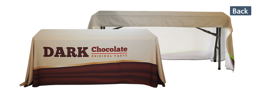 table covers with open back for exhibition
