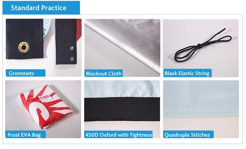 standard practice for feather flags / sail flags/ event flags / promotional flags