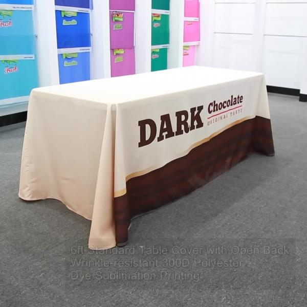 Standard Table Covers with Open Back