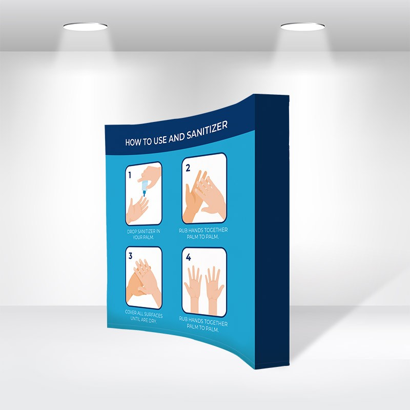 Curved Fabric Popup Displays