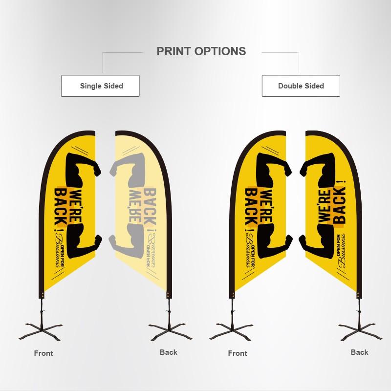 Custom Shape Flag-Angled