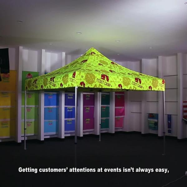 10x10 Fluorescent Advertising Tents