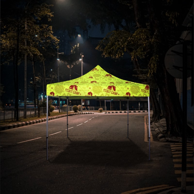 Fluorescent Advertising Tents Sample