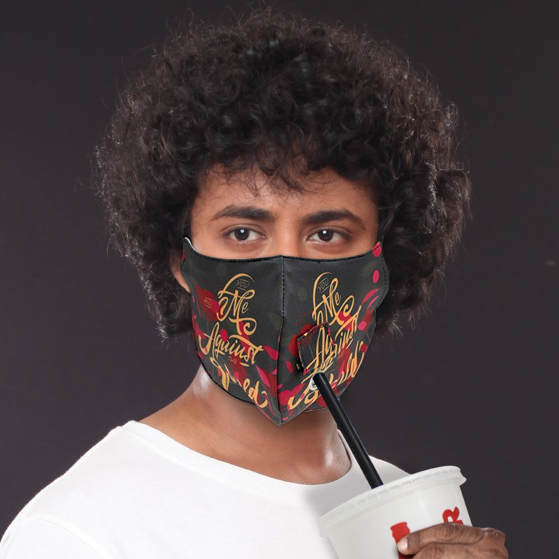 3D Face Masks with Straw Holes