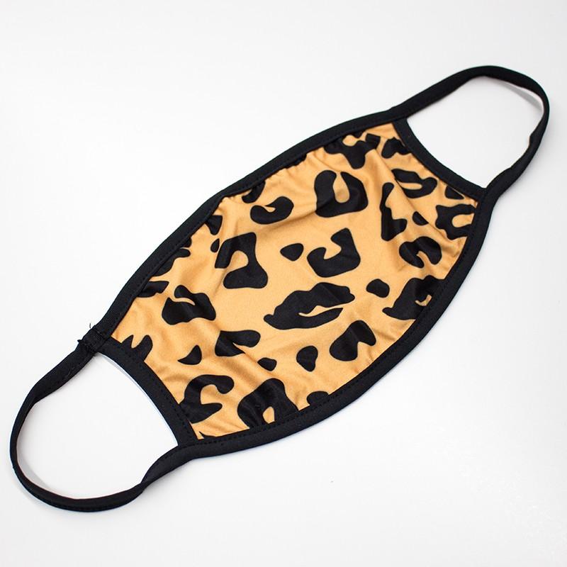 Standard Flat Leopard Face Masks