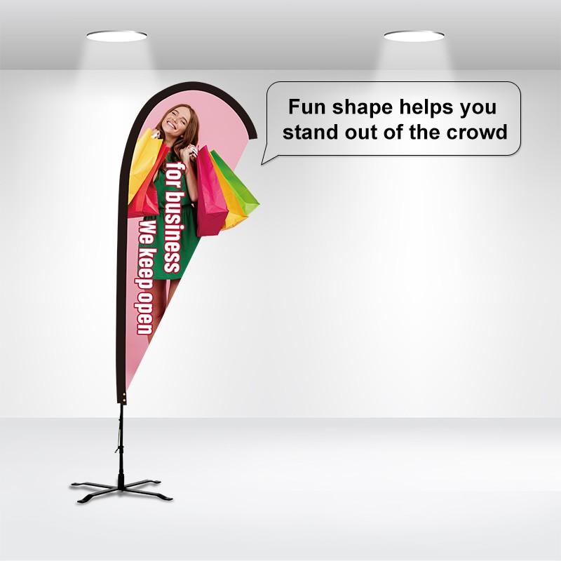 Custom Shape Flag-Teardrop