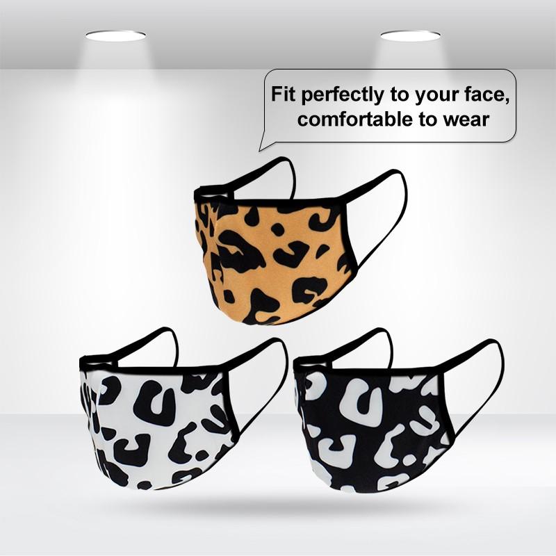 Standard 3D Leopard Face Masks