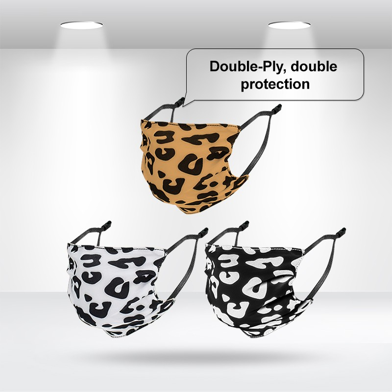 Double-Ply Leopard Face Mask