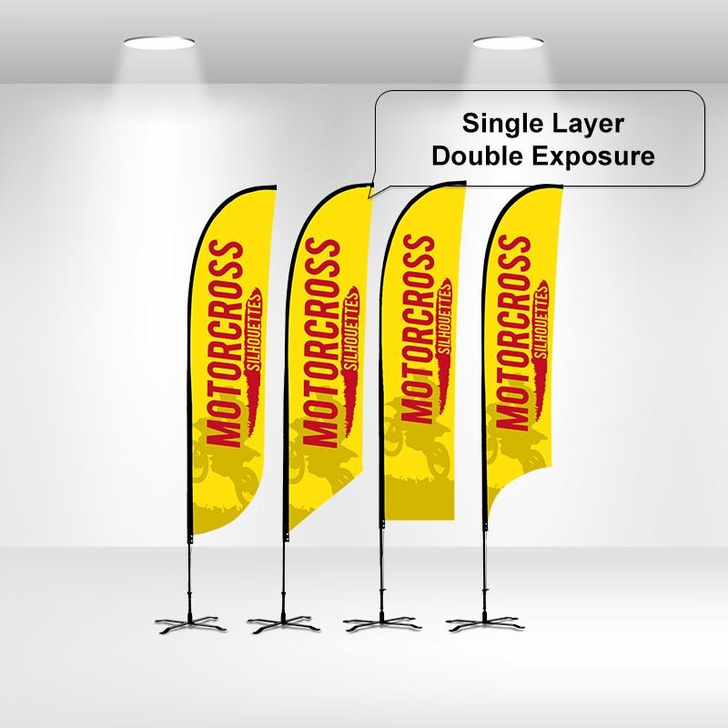 Duplex Printing Advertising Flags