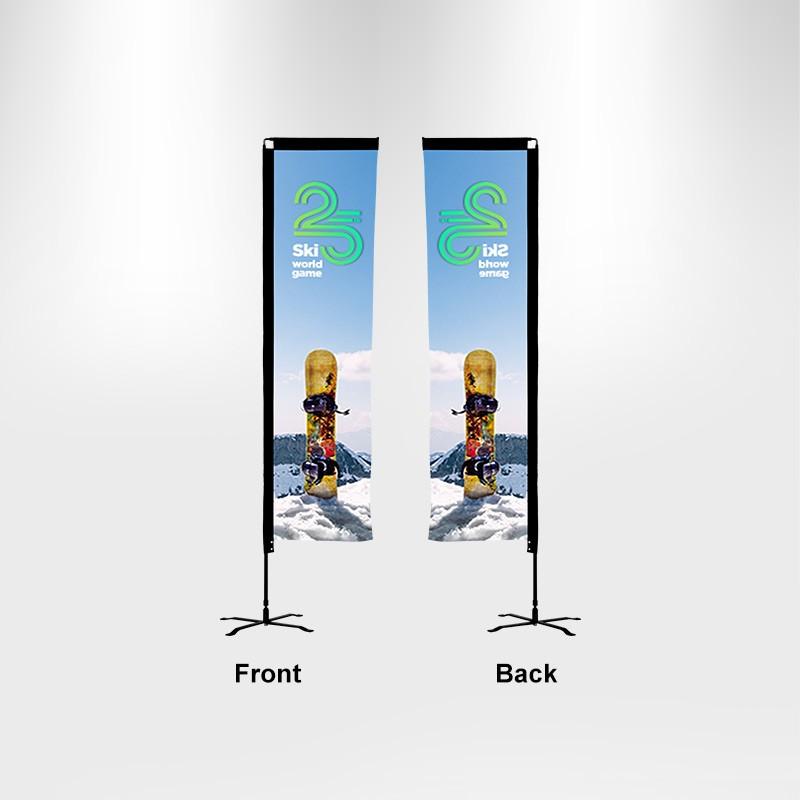 Duplex Printing Advertising Flag-Rectangle