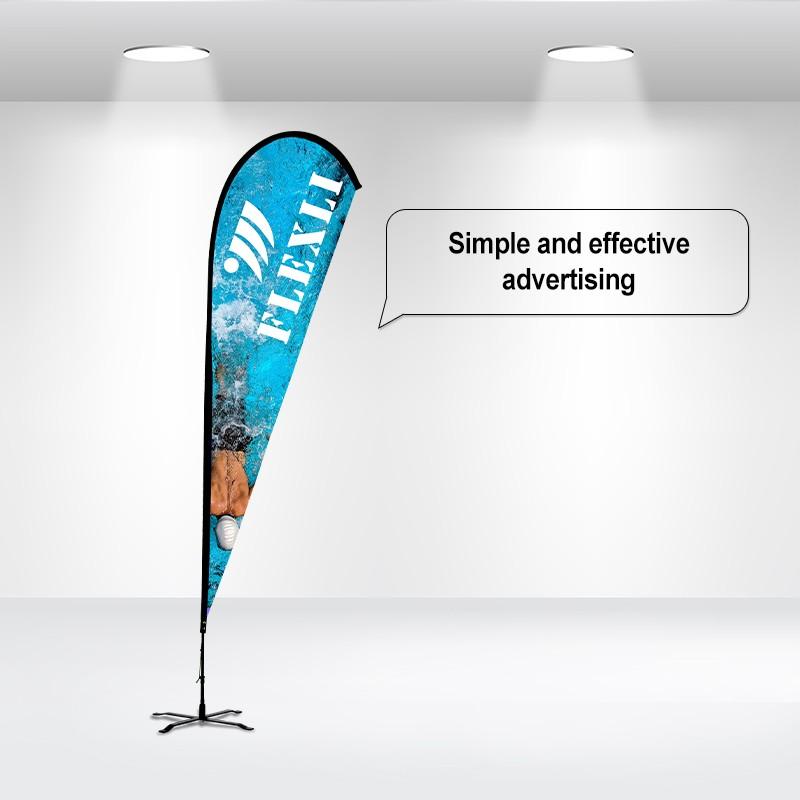 Duplex Printing Advertising Flag-Teardrop
